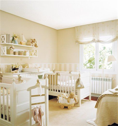 habitación para bebés mellizos o gemelos