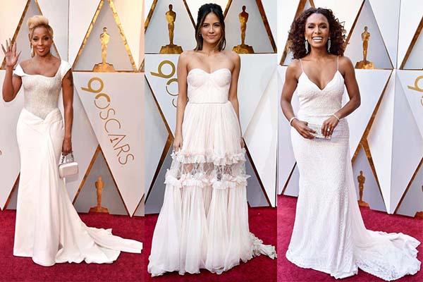 los mejores vestidos blancos de los premios oscar