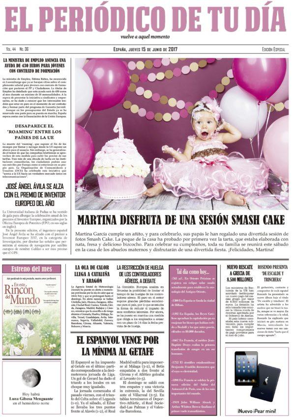 portada personalizada smash cake primer cumpleaños