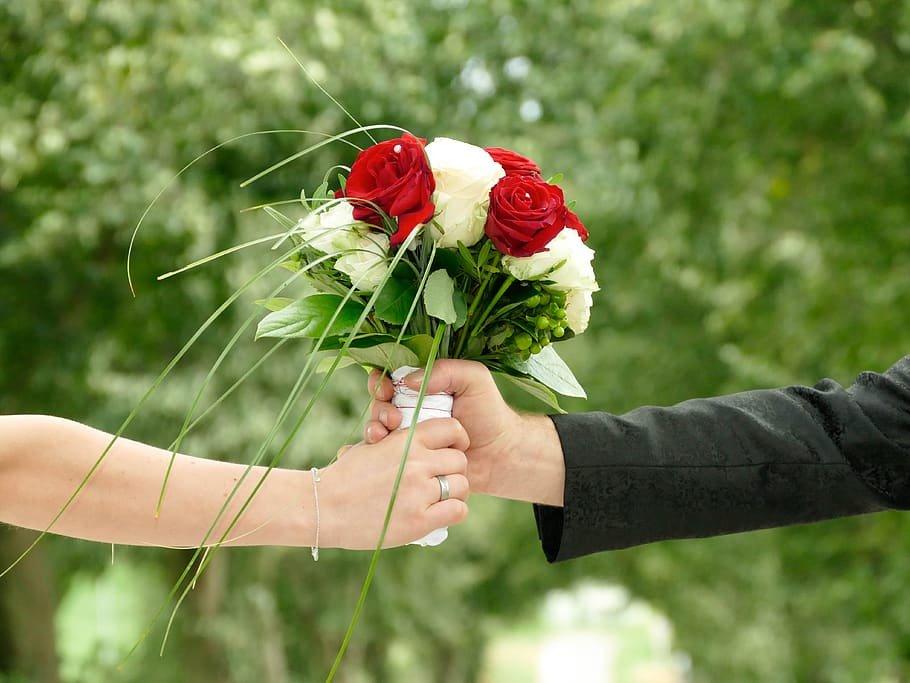 flores como regalo para los padres en la boda